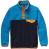 Patagonia Boys LW Synch Snap-T Pullover Navy Blue